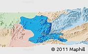 Political Panoramic Map of Momauk, lighten