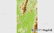 Physical Map of Myitkyina
