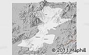 Gray Panoramic Map of Myitkyina