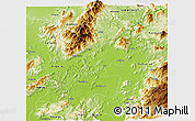 Physical Panoramic Map of Myitkyina
