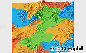 Political Panoramic Map of Myitkyina