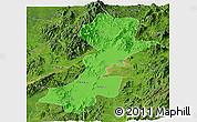 Political Panoramic Map of Myitkyina, satellite outside