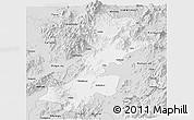 Silver Style Panoramic Map of Myitkyina