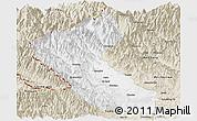 Classic Style Panoramic Map of Putao