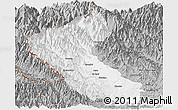 Gray Panoramic Map of Putao