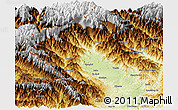 Physical Panoramic Map of Putao