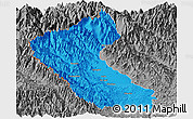 Political Panoramic Map of Putao, desaturated