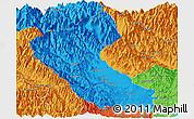 Political Panoramic Map of Putao