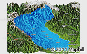 Political Panoramic Map of Putao, satellite outside