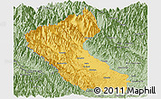 Savanna Style Panoramic Map of Putao