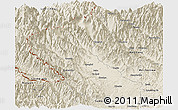 Shaded Relief Panoramic Map of Putao