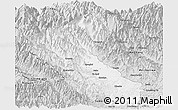 Silver Style Panoramic Map of Putao