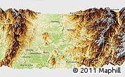 Physical Panoramic Map of Sumpranbum