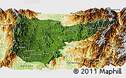 Satellite Panoramic Map of Sumpranbum, physical outside