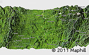 Satellite Panoramic Map of Sumpranbum