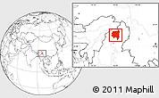 Blank Location Map of Tanai