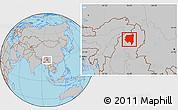 Gray Location Map of Tanai
