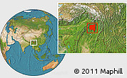 Satellite Location Map of Tanai