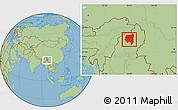 Savanna Style Location Map of Tanai