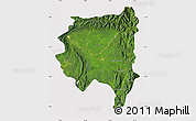 Satellite Map of Tanai, cropped outside