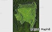 Satellite Map of Tanai, darken
