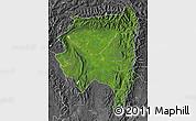 Satellite Map of Tanai, desaturated