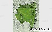Satellite Map of Tanai, lighten
