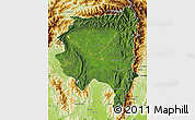 Satellite Map of Tanai, physical outside