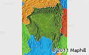 Satellite Map of Tanai, political outside