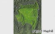 Satellite Map of Tanai, semi-desaturated