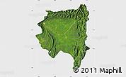 Satellite Map of Tanai, single color outside