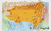 Political Panoramic Map of Tanai, lighten