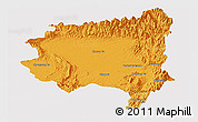 Political Panoramic Map of Tanai, single color outside