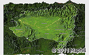 Satellite Panoramic Map of Tanai, darken