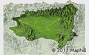 Satellite Panoramic Map of Tanai, lighten