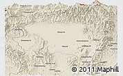 Shaded Relief Panoramic Map of Tanai