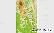 Physical Map of Papun
