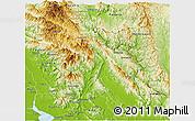 Physical Panoramic Map of Papun