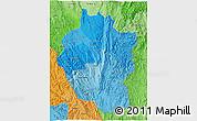 Political Shades 3D Map of Kayah