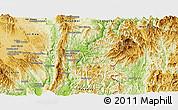 Physical Panoramic Map of Hsataw