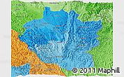 Political Shades Panoramic Map of Kayah