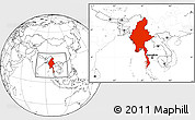 Blank Location Map of Burma