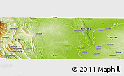 Physical Panoramic Map of Seikpyu