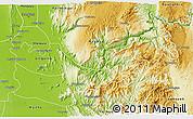 Physical 3D Map of Kyaukse