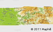 Physical Panoramic Map of Kyaukse