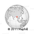 Outline Map of Mahlaing