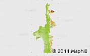 Physical Map of Mandalay, cropped outside