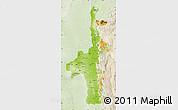 Physical Map of Mandalay, lighten