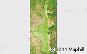 Physical Map of Mandalay, satellite outside