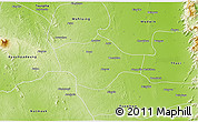 Physical 3D Map of Meiktila